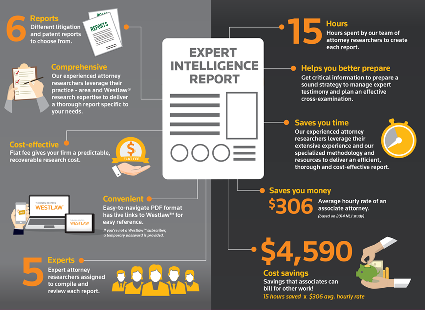 Expert Intelligence Report saves billable hours
